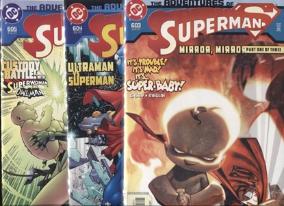 Picture of ADVENTURES OF SUPERMAN #603 604 605 / MIRROR,MIRROR SET NM
