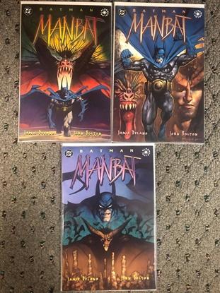 Picture of BATMAN MANBAT #1 2 3 / PRESTIGE FORMAT / DELANO-BOLTON NM 1995