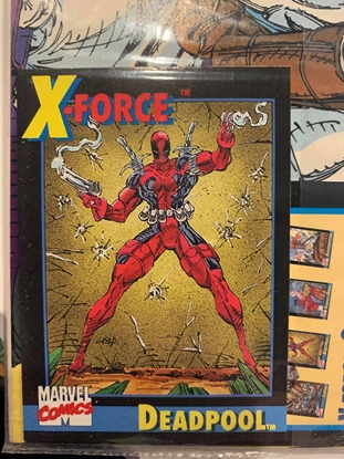 Picture of X-FORCE (1991) #1  1ST PRINT W/ DEADPOOL CARD (2ND PUBLISHED APP OF DEADPOOL)