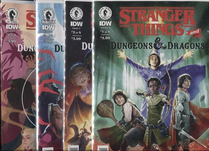 Picture of STRANGER THINGS AND DUNGEONS & DRAGONS #1 2 3 4 / COVER B VARIANT SET NM