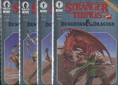 Picture of STRANGER THINGS AND DUNGEONS & DRAGONS #1 2 3 4 / COVER D VARIANT SET NM