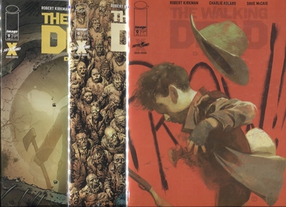 Picture of WALKING DEAD DELUXE EDITION #9 COVER A B C SET NM
