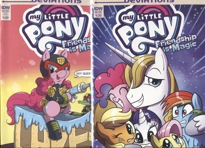 Picture of MY LITTLE PONY DEVIATIONS ONE-SHOT COVER A & SUB VARIANT SET NM