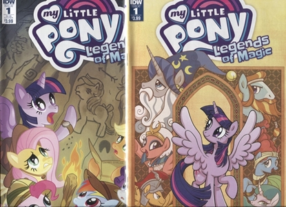 Picture of MY LITTLE PONY LEGENDS OF MAGIC #1 / COVER A & SUB VARIANT SET NM
