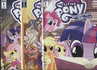 Picture of MY LITTLE PONY LEGENDS OF MAGIC #1 / COVER A + SUB + RI 1:10 VARIANT SET NM