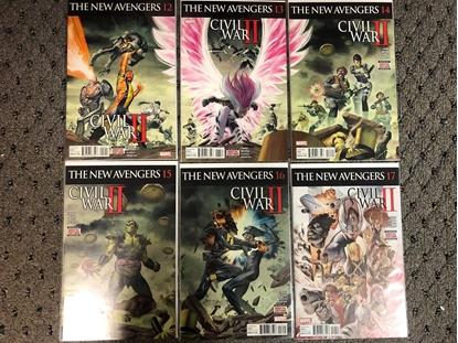 Picture of NEW AVENGERS 2015 #12 13 14 15 16 17 / CIVIL WAR II SET 1ST PRINT NM