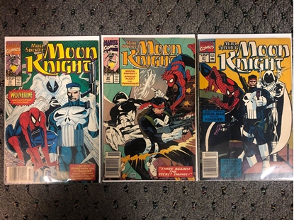 Picture of MOON KNIGHT #19 20 21 / PUNISHER & SPIDER-MAN STORY COMIC SET