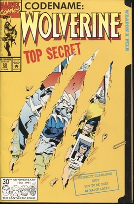 Picture of WOLVERINE (1987) #50 / 1ST PRINT DIE-CUT COVER / 8.0 VF
