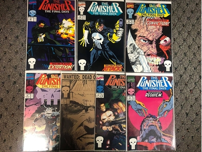 """Picture of PUNISHER (1987) #53 54 55 56 57 58 59 """"THE FINAL DAYS"""" SET"""