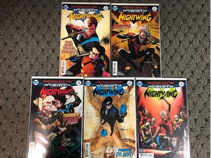 """Picture of NIGHTWING (2016) #16 17 18 19 20 """"NIGHTWING MUST DIE"""" STORY ARC SET NM"""
