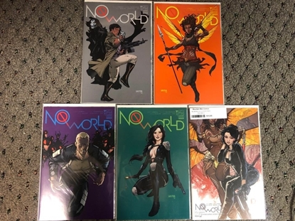 Picture of NO WORLD #1 / COVER A B C D E 1:12 VARIANT 5-COVER SET / ASPEN NM
