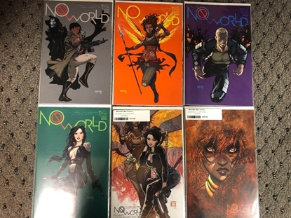 Picture of NO WORLD #1 / COVER A B C D E F 1:12 1:24 VARIANT 6-COVER SET / ASPEN NM