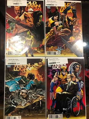 Picture of OLD MAN LOGAN #21 22 23 24 / 1:10 GREG LAND VARIANT COVER SET NM
