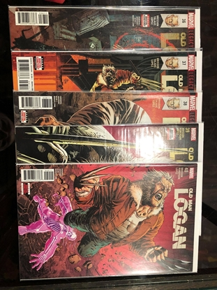 """Picture of OLD MAN LOGAN #36 37 38 39 40 """"TO KILL FOR"""" / 1ST PRINT SET NM"""