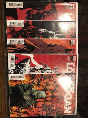 """Picture of OLD MAN LOGAN #46 47 48 49 50 """"END OF THE WORLD"""" STORY ARC NM SET"""