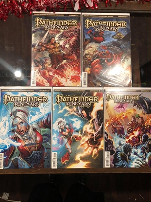 Picture of PATHFINDER RUNESCARS #1 2 3 4 5 / COVER C VARIANT SET RPG MAP