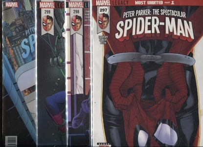 "Picture of PETER PARKER SPECTACULAR SPIDER-MAN #297 298 299 300  ""MOST WANTED"" SET NM"