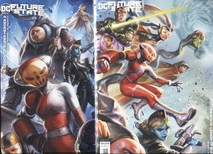 Picture of FUTURE STATE LEGION OF SUPER-HEROES #1-2 / COVER B IAN MCDONALD VARIANT SET NM