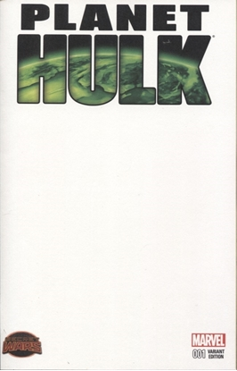 Picture of PLANET HULK #1 BLANK VARIANT COVER