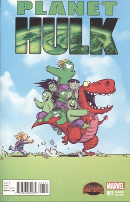 Picture of PLANET HULK #1 SKOTTIE YOUNG VARIANT COVER
