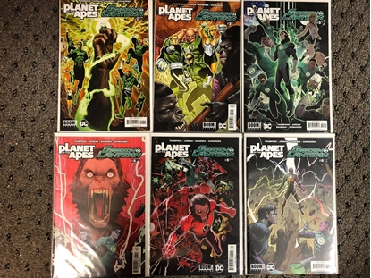 Picture of PLANET OF THE APES GREEN LANTERN #1 2 3 4 5 6 / 1ST PRINT COVER A SET BOOM! DC NM