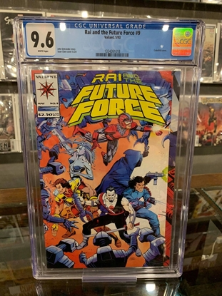 Picture of RAI AND FUTURE FORCE #9 CGC 9.6 NM+ GATEFOLD COVER (ID 7350)