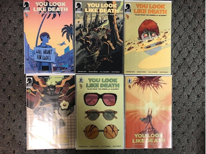 Picture of YOU LOOK LIKE DEATH UMBRELLA ACADEMY #1 2 3 4 5 6 / COVER A 1ST PRINT SET NM