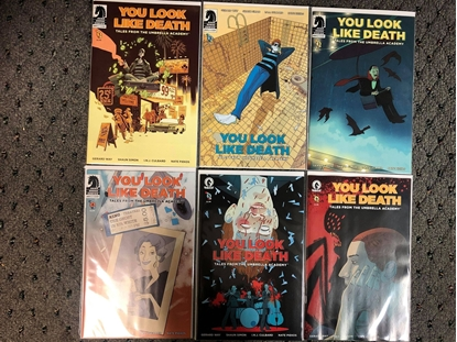 Picture of YOU LOOK LIKE DEATH UMBRELLA ACADEMY #1 2 3 4 5 6 / COVER B VARIANT SET NM