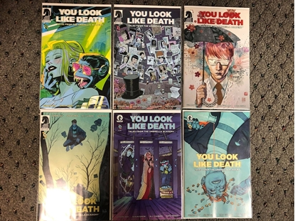 Picture of YOU LOOK LIKE DEATH UMBRELLA ACADEMY #1 2 3 4 5 6 / COVER C VARIANT SET NM