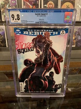 Picture of SUICIDE SQUAD REBIRTH  #1 CGC 9.8 NM/MT LEE BERMEJO VARIANT