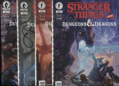 Picture of STRANGER THINGS AND DUNGEONS & DRAGONS #1 2 3 4 / COVER A 1ST PRINT SET NM