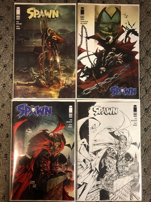 Picture of SPAWN #315 / COVER A B C D 4-VARIANT SET / MCFARLANE B & W NM