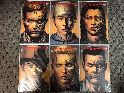 Picture of WALKING DEAD DELUXE EDITION #1 2 3 4 5 6 / 2ND PRINT VARIANT COVER SET NM