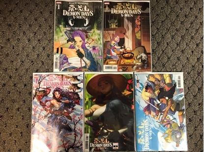 Picture of X-MEN DEMON DAYS #1 / 5-COVER SET MOMOKA,ARTGERM,BROOKS,YU,GURIHIRU