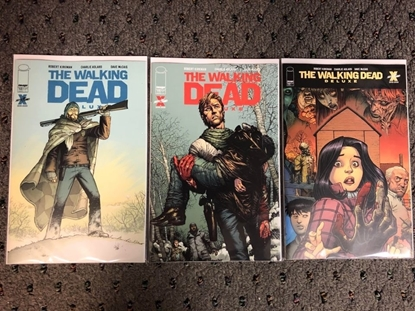 Picture of WALKING DEAD DELUXE #10 / COVER A B C VARIANT SET NM