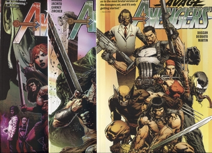 Picture of SAVAGE AVENGERS VOLUME 1 2 3 TPB SET / REPS #1-16 NEW