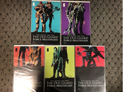 Picture of OLD GUARD FORCE MULTIPLIED #1 2 3 4 5 / 1ST PRINT SET / NETFLIX MOVIE RUCKA
