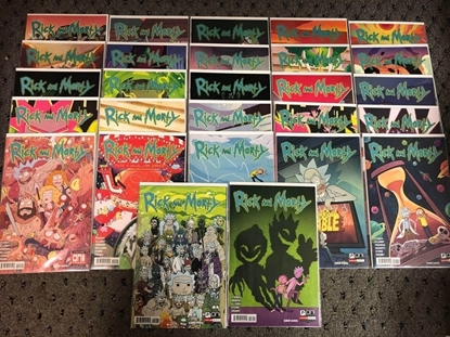 Picture of RICK AND MORTY #1-52 COMIC BOOK LOT / 27 ISSUES / ONI PRESS