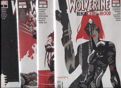 Picture of WOLVERINE BLACK WHITE & BLOOD #1 2 3 4 / 1ST PRINT SET NM
