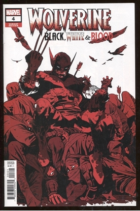 Picture of WOLVERINE BLACK WHITE BLOOD #4 / 1:25 ASRAR VARIANT COVER