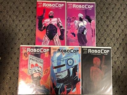 Picture of ROBOCOP CITIZENS ARREST #1 2 3 4 5 / 1ST PRINT SET / WOOD BOOM! NM