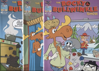 Picture of ROCKY & BULLWINKLY SHOW #1 2 3 / AMERICAN MYTHOLOGY SET 1ST PRINT COMICS NM