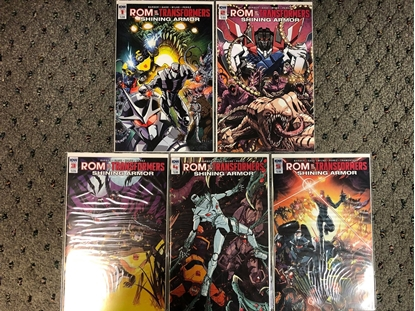 Picture of ROM VS TRANSFORMERS SHINING ARMOR #1 2 3 4 5 / 1ST PRINT SET NM IDW