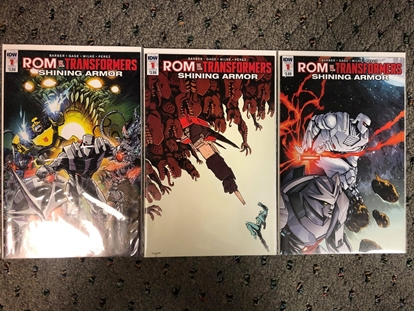 Picture of ROM VS TRANSFORMERS SHINING ARMOR #1 / 3-COVER SET A B C VARIANT NM IDW