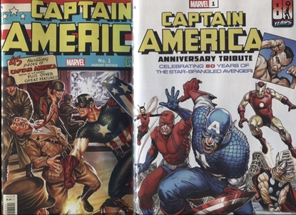 Picture of CAPTAIN AMERICA 80TH ANNIVERSARY TRIBUTE #1 / COVER A & B SET NM
