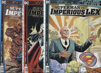 Picture of FUTURE STATE SUPERMAN VS IMPERIOUS LEX #1 2 3 / COVER A 1ST PRINT SET
