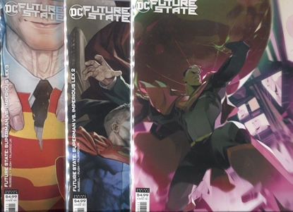 Picture of FUTURE STATE SUPERMAN VS IMPERIOUS LEX #1 2 3 / COVER B VARIANT SET NM