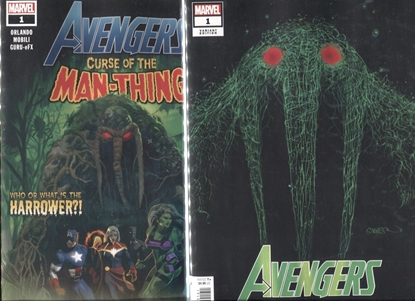 Picture of AVENGERS CURSE MAN-THING #1 / 1ST PRINT + GLEASON WEBHEAD VARIANT NM
