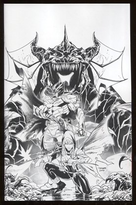 Picture of POWER RANGERS UNLIMITED HEIR TO DARKNESS #1 COVER E UNLOCKABLE VARIANT