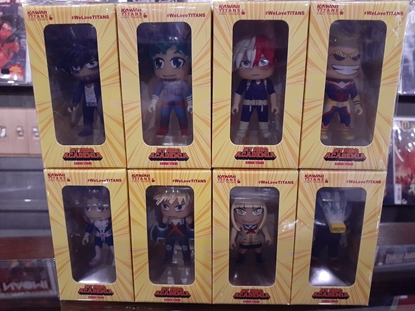 "Picture of KAWAII TITANS MY HERO ACADEMIA 3"" VINYL FIGURES FULL SET OF 8 NEW"